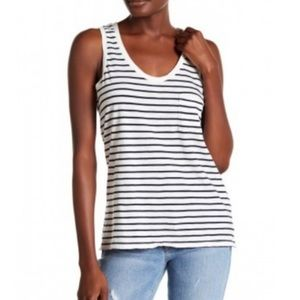 Madewell Striped Scoop-neck Tank Top with Pocket